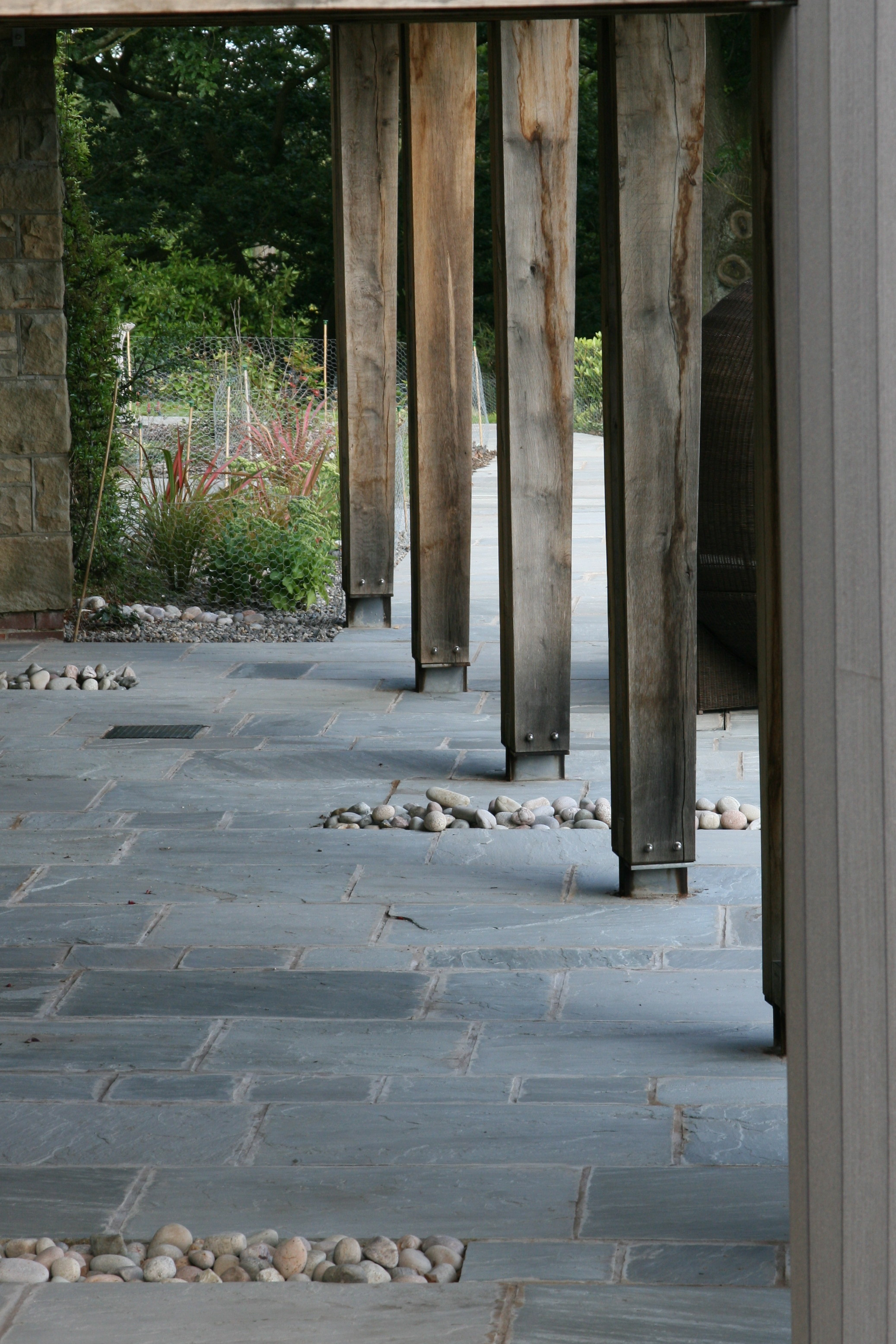 Contemporary garden paving detail