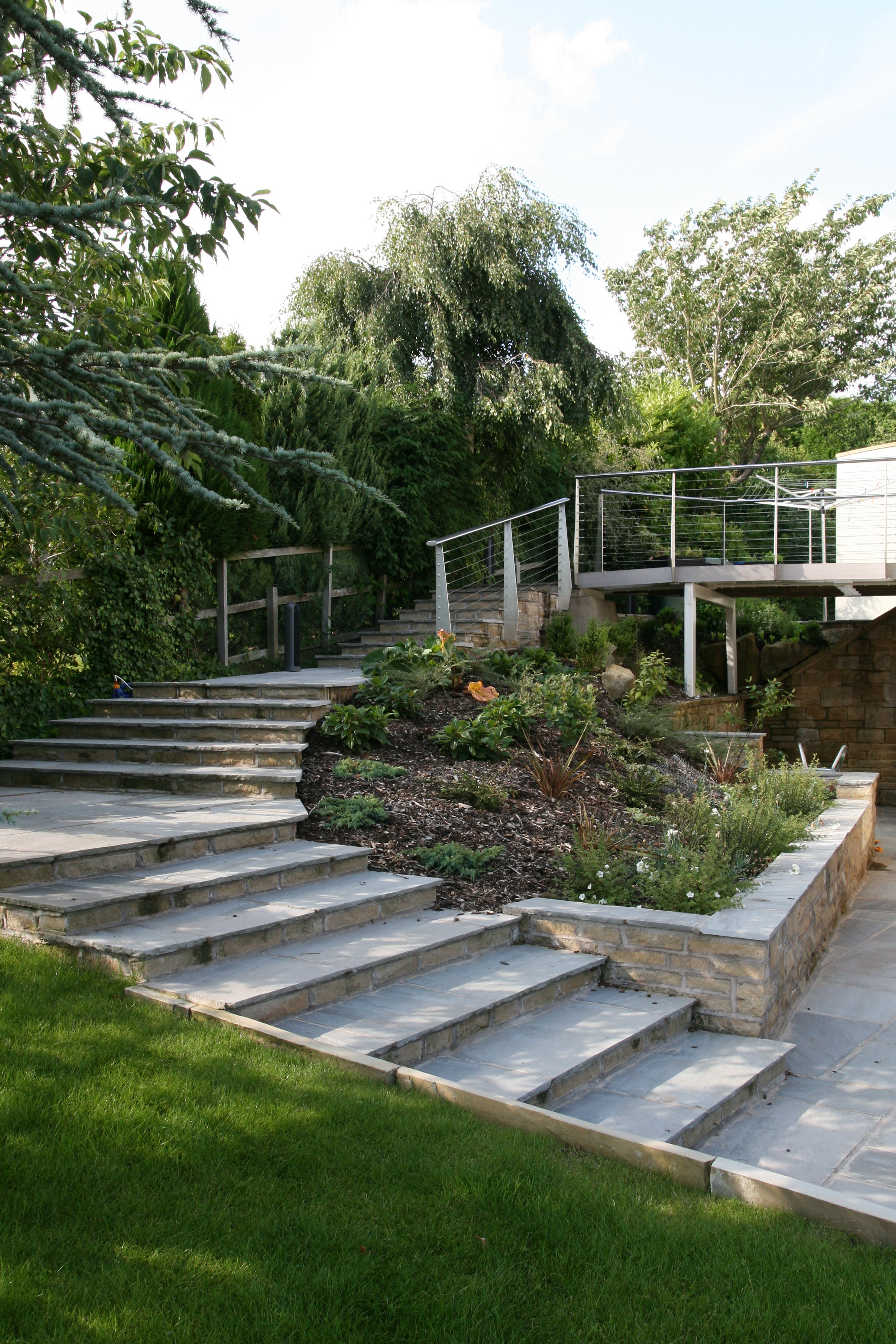Contemporary garden step detail