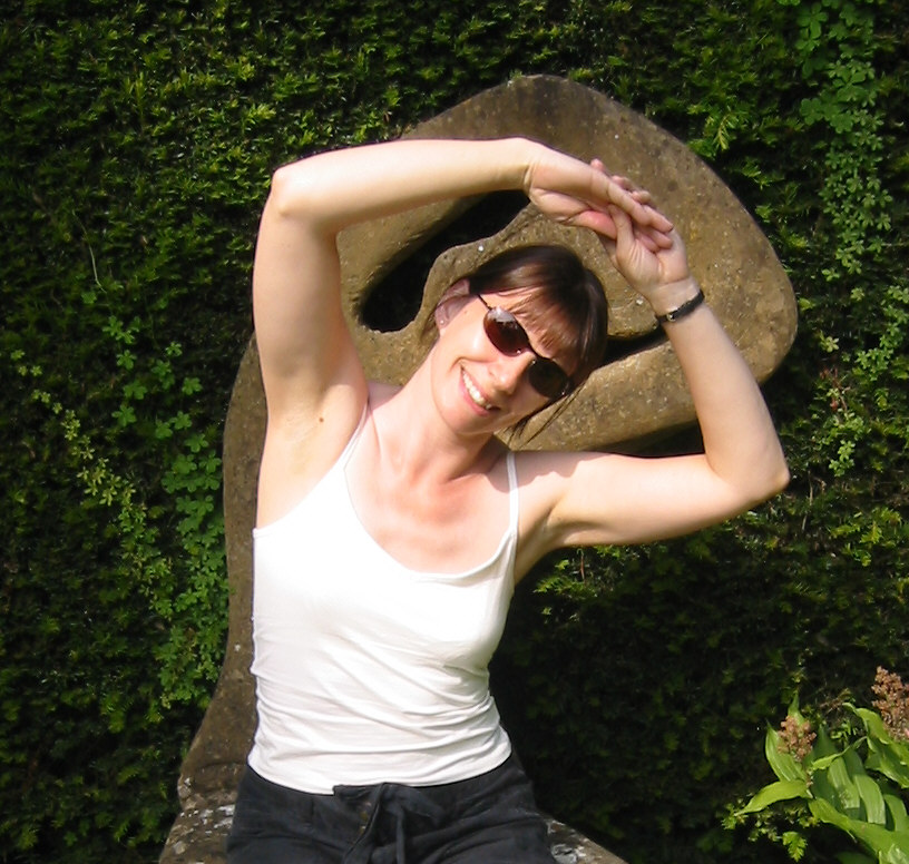 Debbie Davitt - being a bit daft at Kiftsgate garden!