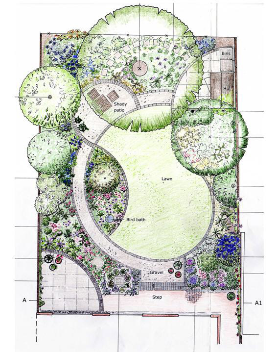Flower garden design pictures and layout pdf for Patio layouts and designs